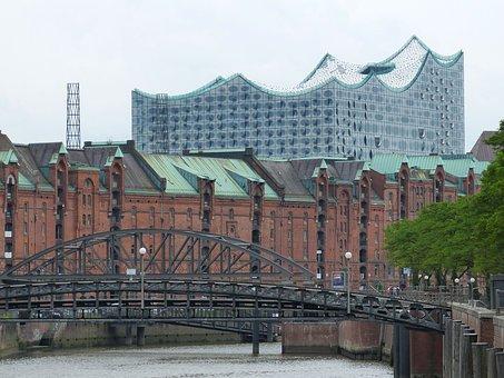 Speicherstadt, Hamburg, Brick, Building, Historically