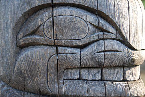 Totem, Whale, Tribal, Traditional, Design, Haida
