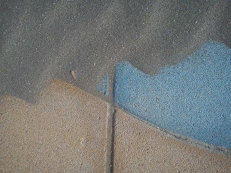 Sand, Drift, Concrete, Wind, Pattern, Wavy Line