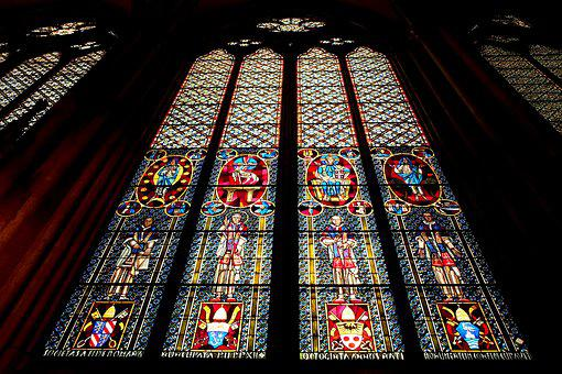 Cologne Cathedral, Church Window, Glass, Window, Church