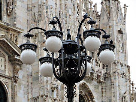 Streetlamp, Milan, Duomo, Italy, Lamp, Lamppost, Light