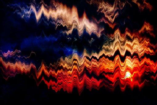 Abstract, Light, Darkness, Lights, Dark, Lines, Wavy