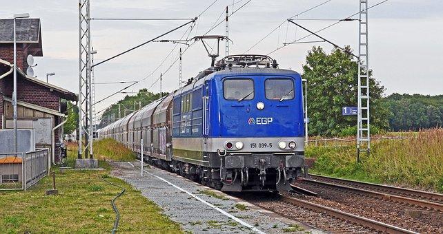 Freight Train, Railway Station, Platform, Transit