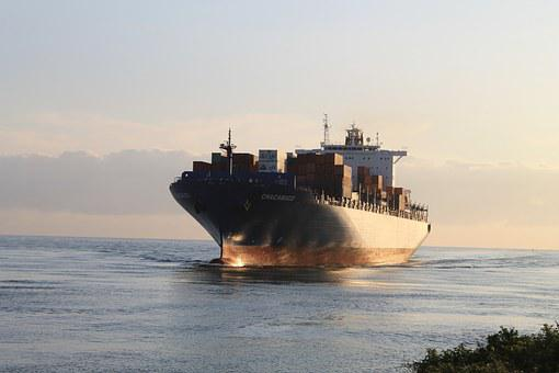 Freighter, Cargo Ship, Industry, Port, Goods