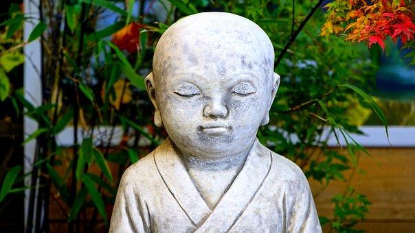 Buddha, Garden, Statue, Asia, Religion, Meditation