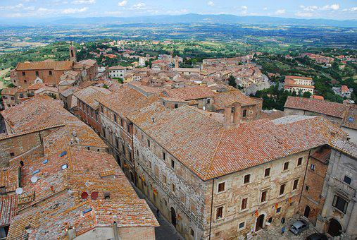 Montepulciano, Tuscany, Old Village, Roofs, Tiles