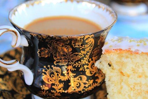 Coffee, Cake, Tea Cup