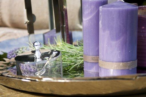 Candle, Purple, Gift, Romantic, Decor, Handmade