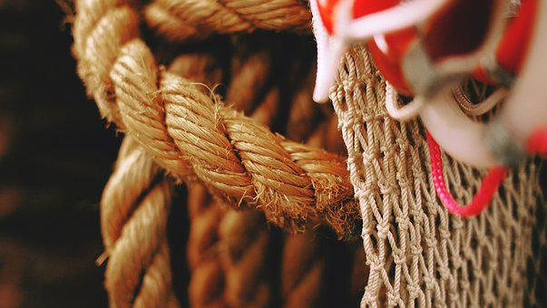 Ropes, Mesh, Knot, Tied