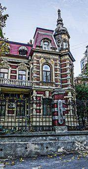 Odessa, Building, Fence, Grille
