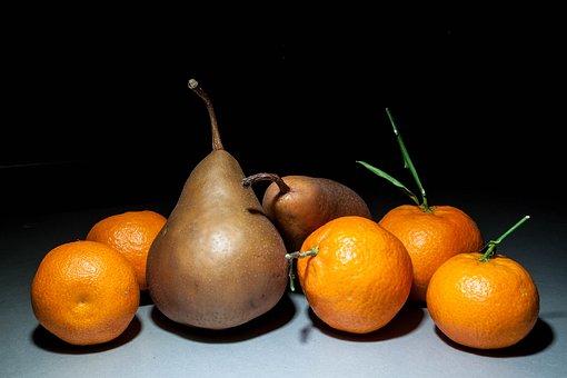 Citrus Fruits, Pears, Still Life, Oranges, Mandarins