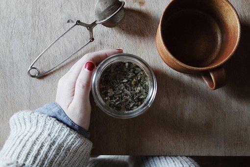 Table, Kitchen, Hand, Woman, Manicure, Cup, Mug, Jar