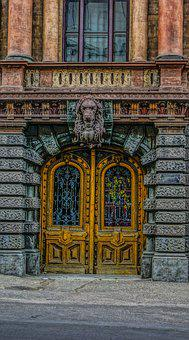 Odessa, The House Of Scientists, Door, Carved, Road