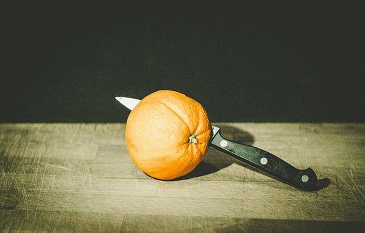 Orange, Citrus, Fruit, Juicy, Health, Knife, Slice