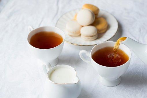 Herbal, Tea, Cup, Drink, Milk, Health, Cookie, Macaroon