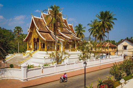 Luang Prabang, Temple In Luang, Luang, Prabang, Temple