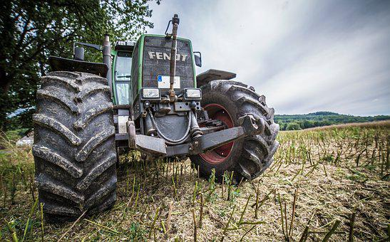 Tractor, Machine, Mature, Harvest, Field, Agriculture