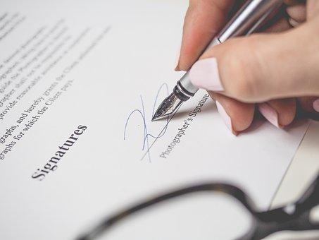 Penmanship, Pen, Signature, Document, Work, Sign