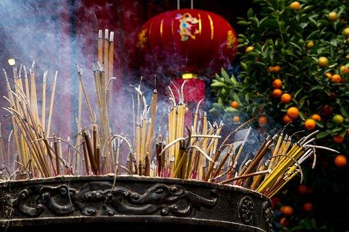 Vietnam, Temple, Incense Sticks, Asia, Religion, Pagoda