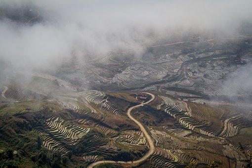 Vietnam, Sapa, Rice, Landscape, Mountain, Valley, Asia