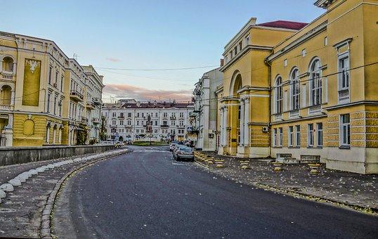 Odessa, Bridge, Building, Yellow, Road