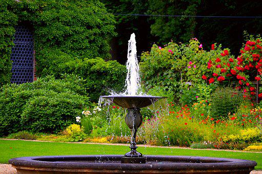 Fountain, Water Games, Water, Water Fountain, Flowers