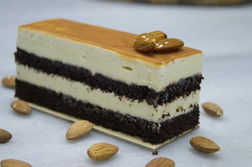 Almond, Cake, Piece Of Cake, Dessert, Sweet, Pastry
