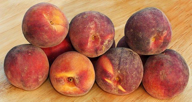 Peach, Round Peach, Stone Fruit, Prunus Persica, Fruit