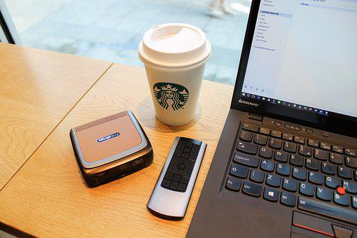 Table, Coffee, Cafe, Laptop, Tech, Technology, Computer