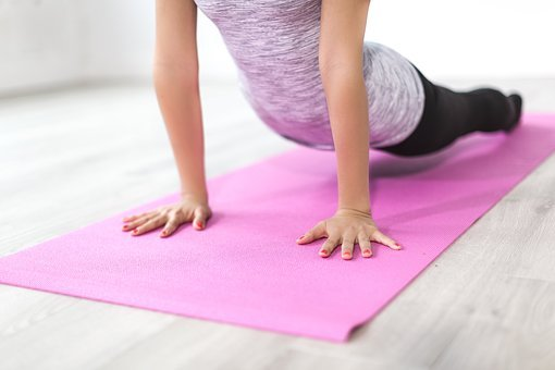 People, Woman, Pink, Yoga, Mat, Meditation, Fitness
