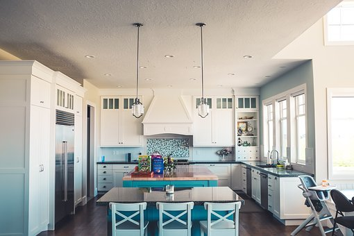 House, Interior, Design, Kitchen, Dining, Area, Table