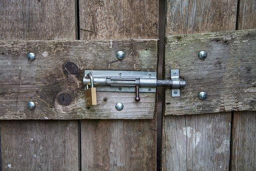 Abus, Lock, Padlock, Door Lock, Door, Wood, Wooden