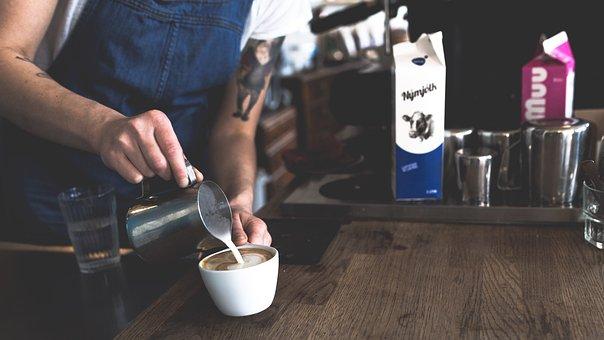 Coffee, Cafe, Latte, Art, Steamed, Milk, Froth, Foam