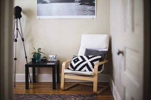 House, Interior, Living, Room, Chair, Pillow, Table