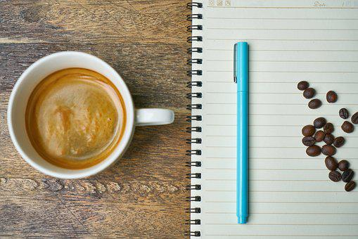 Coffee, Core, Pen, Blue, Nutrition, Food, Coffee Cup