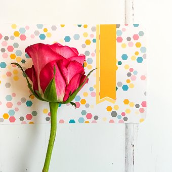 Red, Roses, Flower, Craft, Card