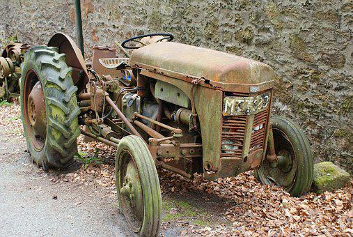 Tractor, Old, Abandoned, Agriculture, Machinery, Farm