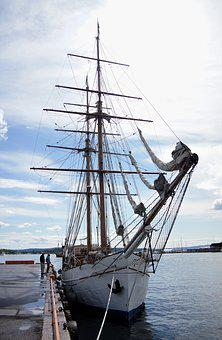 Tall, Sail, Ship, Boat, Ocean, Yacht, Marine, Sailboat