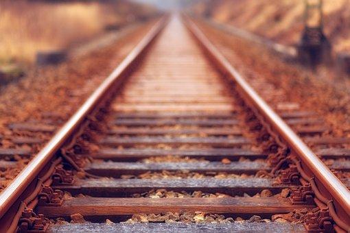 Railway, Track, Outdoor, Travel, Blur