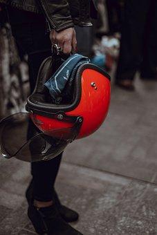 People, Woman, Helmet, Head, Gear, Travel, Ride