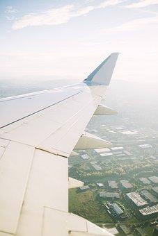 Airplane, Airline, Travel, Trip, Landing, Aerial, View