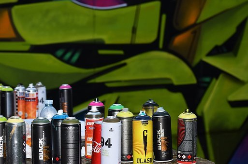 Colorful, Can, Bottle, Spray