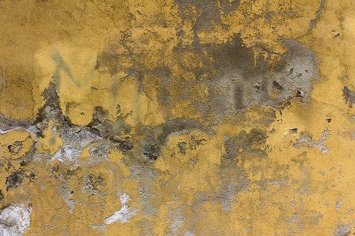 Concrete, Yellow, Wall