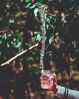 Glass, Jar, Container, Water, Drink, Bokeh, Blur