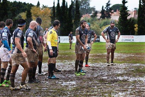 People, Men, Outdoor, Nature, Field, Sport, Game, Mud