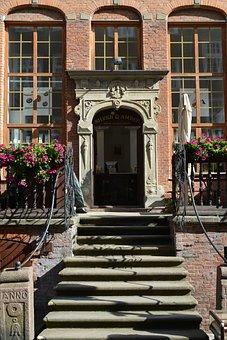 Gdańsk, Poland, House Entrance, Historic Preservation