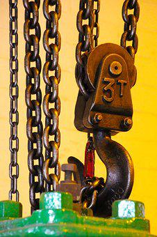 Chain, Winch, Equipment, Hoist, Mechanism, Metallic