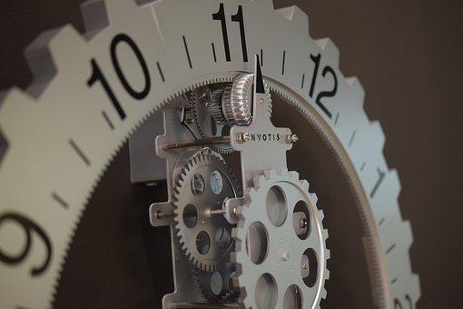 Clock, Movement, Time, Time Of, Mechanics, Gears