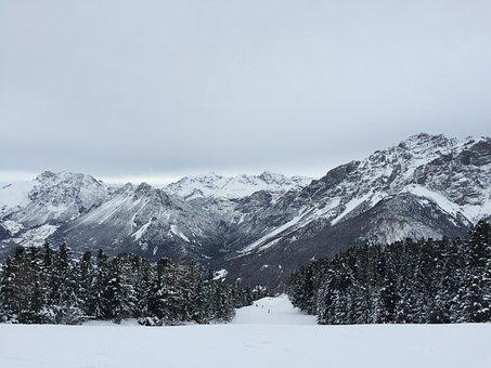 The Alps, Livigno, Panorama, Stok, Winter, Mountains