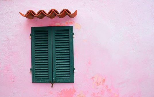 Pink, Concrete, Wall, Window